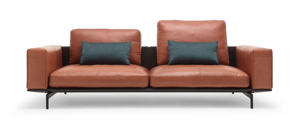 Ladenstein Rolf Benz Ledersofa Design braun